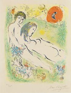 Marc Chagall - On The Earth of Gods (Sur la Terre des Dieux) , 1967