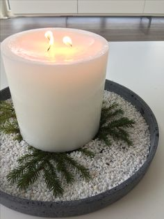 Winter and candles Pillar Candles, Tea Lights, Winter, Christmas, Winter Time, Xmas, Tea Light Candles, Weihnachten, Navidad