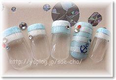 水色×白のボーダーマリンで夏ネイル♪ :: ココロノサプリ|yaplog!(ヤプログ!)byGMO Marine Nails, Love Nails, Make Up, Nail Art, Nice, Projects To Try, Sailor Nails, Makeup, Nail Arts