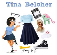 """Tina Belcher - Bob's Burgers"" by missarsenic on Polyvore featuring T By Alexander Wang, Converse, Roberto Cavalli and My Little Pony"