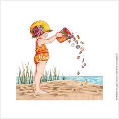 "Summer (Mary Engelbreit, ""Bucket of Shells"")"