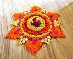Diwali Decorations At Home, Festival Decorations, Flower Decorations, Diwali Diy, Diwali Rangoli, Rangoli Designs, Mehndi Designs, Pookalam Design, Indian Rangoli