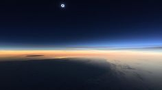 A passenger of a Boeing 777 flight from New York City to Paris took this picture of the solar eclipse over the Atlantic ocean, on March 20, 2015.