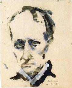 Charles Baudelaire by Horst Janssen