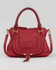 Shop for Marcie Medium Shoulder Bag, Red by Chloé at ShopStyle. Chloe Marcie Bag, Chloe Marcie Medium, Chloe Bag, Bags Game, Chloe Handbags, Red Handbag, Cloth Bags, Luxury Bags, Hobo Bag
