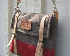 Authentic Swiss Army Blanket Bag - Travel bag- unique iPad Messenger Bag- handmade in Switzerland