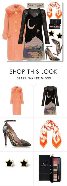 """""""Twinkle Twinkle: Star Outfits"""" by faten-m-h ❤ liked on Polyvore featuring Miu Miu, Missoni, Gucci, Karen Walker, Estée Lauder and StarOutfits"""