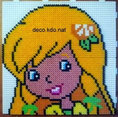 Strawberry Shortcake character hama perler beads by deco.kdo.nat - Pattern: http://www.pinterest.com/pin/374291419003050287/