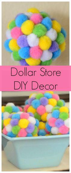 Dollar Store Decor: Spring PomPom Balls