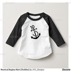 Nautical Raglan Shirt [Toddler] Matching adult shirts available also at www.zazzle.com/JCC_Designs