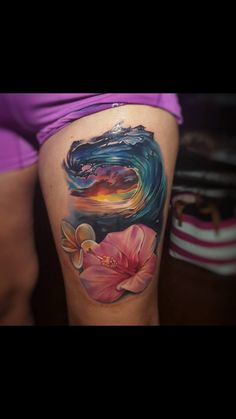 You'll need to consider what you wish to enhance your ship tattoo so it's best if you take some time to view all the different sailing ship tattoos wi. Hawaii Tattoos, Ocean Tattoos, Nature Tattoos, Body Art Tattoos, Tribal Tattoos, Thai Tattoo, Maori Tattoos, Ocean Sleeve Tattoos, Ship Tattoos