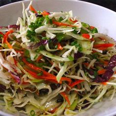 Try this amazing side dish for Vinegar Based Coleslaw at your next barbecue!