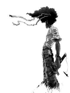 . Manga Samurai, Afro Samurai, Samurai Tattoo, Samurai Jack, Manga Anime, Samurai Artwork, Comic Pictures, Comic Pics, Black Anime Characters