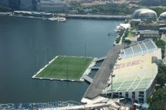 The Float at Marina Bay, Singapore is the world's largest floating football stadium