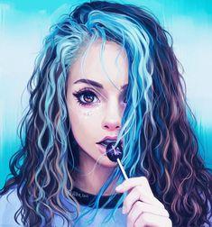 artwork by hiba tan Hiba Tan, Dibujos Tumblr A Color, Illustrator, Girly M, Illustration Mode, Girl Illustrations, Digital Illustration, Cool Drawings, Artwork Drawings