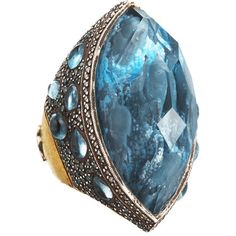 Gorgeous, Gorgeous Ring, !! Got star struck again, dolphins carved inside. Sevan Bicakci Dolphin Carved Blue Topaz Ring