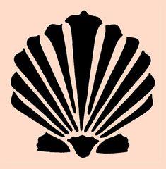 STENCIL Clam shell Seashell 5x5 by ArtisticStencils on Etsy