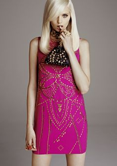 H&M; & Versace2011/12. love the color!