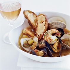 Bouillabaisse | When Cathal Armstrong was growing up in Ireland, his father (a travel agent and avid cook) made all kinds of Spanish and French dishes, including a great bouillabaisse. Now Armstrong serves his own phenomenal bouillabaisse, packed with shrimp, mussels, clams and monkfish.