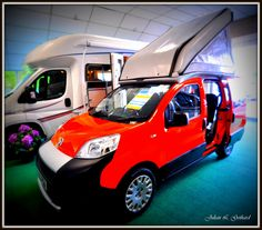 2-berth Skamper II micro motorhome -- on the Fiat Fiorino van platform --  at Don Amott's RV dealership in Hilton, Derbyshire.