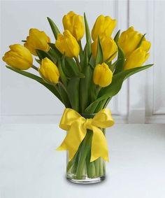Sunny Yellow Tulips