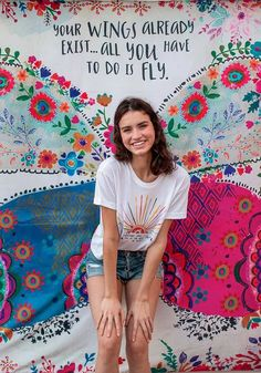 This Natural Life Your Wings Exist Tapestry features soft tapestry which is perfect for covering your wall or bed! Can also be used as a beach blanket. Shop Now! Angel Wings Wall Art, New Creation In Christ, School Murals, Get Happy, Beach Blanket, Natural Life, Work Inspiration, Butterfly Wings, Boho