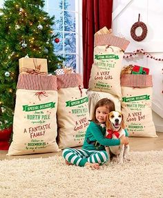 When a gift is just too large to wrap, use this Special Delivery Oversized Gift Sack. Each gift sack is personalized to a special someone--boy, girl,