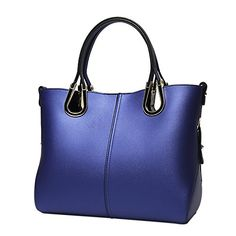 QZUnique Womens Genuine Leather Elegant Lady Style Top Handle Shoulder Bag Royal Blue *** Continue to the product at the image link.