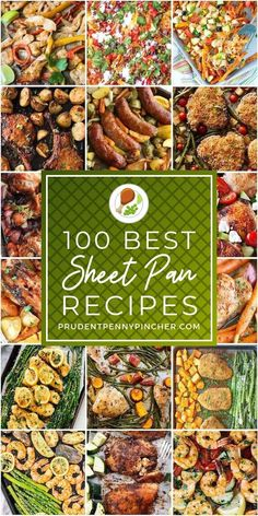100 Best Sheet Pan Dinners: These sheet pan dinners are easy, simple and tasty. Sheet pan recipes are perfect for busy days because there is very little prep time and clean up Food Network Recipes, Cooking Recipes, Healthy Recipes, Easy Recipes, Side Recipes, Dinner Recipes, Dinner Ideas, One Pot Meals, Easy Meals