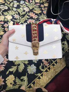 f364205b60b2 Gucci Sylvie Bee Star Small Shoulder Bag 524405 DJ2RG 8963 Gucci Sylvie,  Small Shoulder Bag
