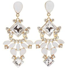 Charlotte Russe Gemstone Cluster Drop Earrings (24 RON) ❤ liked on Polyvore featuring jewelry, earrings, multi, drop earrings, teardrop earrings, drop dangle earrings, gemstone drop earrings and gem jewelry