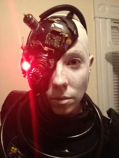 my halloween costume borg face plate close up - Borg Halloween Costume