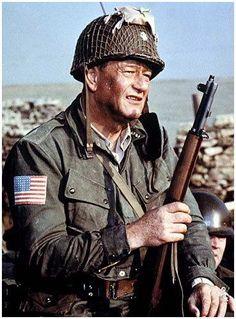 john wayne The Longest Day John Wayne Quotes, John Wayne Movies, Old Movies, Great Movies, Hollywood Actor, Classic Hollywood, Westerns, Maureen O'hara, War Film