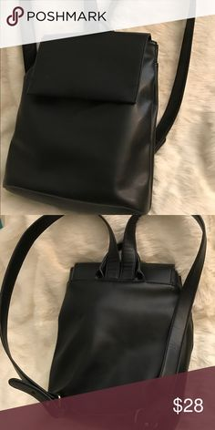 Faux leather backpack Pre- loved faux leather backpack. Gold plated hardware unbranded Bags Backpacks