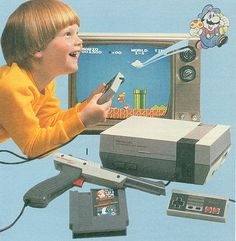 Introducing the Nintendo Entertainment System and pretty much an accurate depiction of my childhood from my own mind.