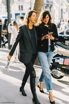 Géraldine Saglio and Emmanuelle Alt loving Chanel