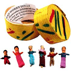 Worry dolls- art therapy/play therapy tool to help children cope with anxiety
