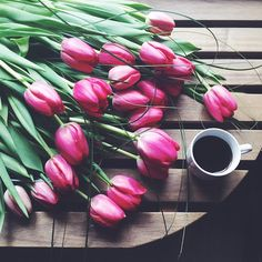 Coffee + Fresh Blooms Make For The Perfect Wednesday Morning