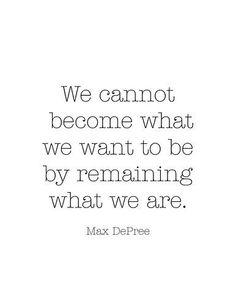 Change is good. Change is good.