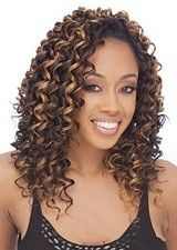Exquisite Cascading Curls African American Wig