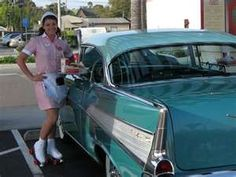 Pinky, the Car Hop, and a 1957 Chevy Bel Air