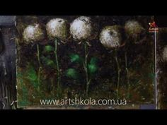 Мастер класс живописи Елены Ильичевой - Хризантемы - YouTube