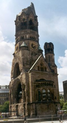 "Berlin, Germany - The ""Gedaechtniskirche"". It was bombed during 2nd world war. It was left this way to this day and they built a super modern church right next to it. I was born right after the war in Berlin."
