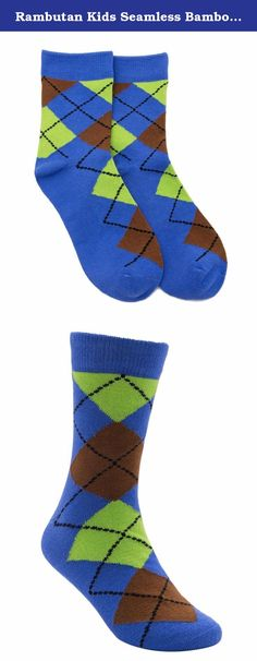 Rambutan Kids Fancy Patterns Comfort Toe Seam Colorful Bamboo Socks US 13-2