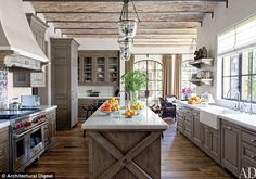 Gisele Bundchen's kitchen Eco-friendly: The house is said to have its own chicken coup where Tom and Gisele can bring their own daily eggs into the kitchen
