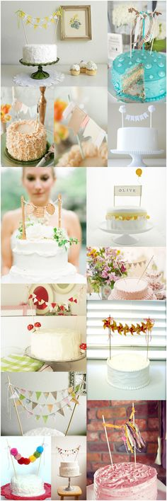 Inspiration board with cake banners
