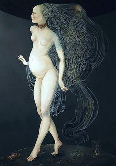 La Danse Macabre, 2007-08, by Joanna Chrobak (born in Poland, 1968). Oil on canvas