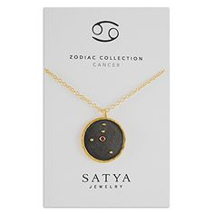 SATYA JEWELRY - Cancer Zodiac Ruby Necklace