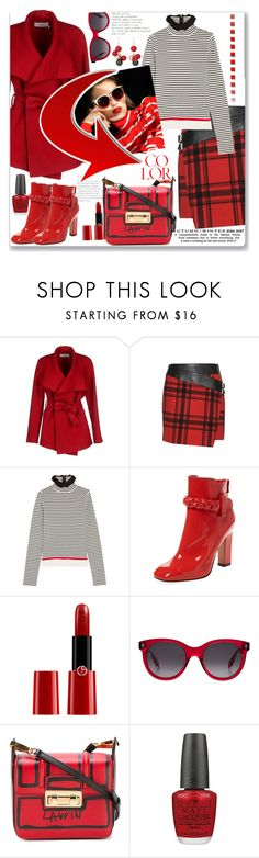 """""""Go Bold or Go Home"""" by ahapplet ❤ liked on Polyvore featuring BGN, Yves Saint Laurent, MSGM, Valentino, Giorgio Armani, Alexander McQueen, Lanvin, OPI, Chico's and colorful"""