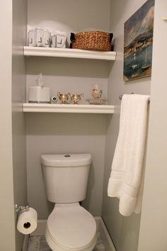 tiny bathroom makeover ideas on a budget bathroom дизайн Bathroom Shelf Decor, Cozy Bathroom, Budget Bathroom, Bathroom Organization, Ikea Bathroom, Master Bathroom, Bathroom Ideas, Creative Bathroom Storage Ideas, Small Bathroom Storage